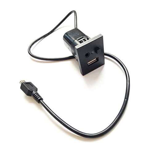 XDTLD For Ford Focus MK2 USB/AUX Ranura de Interfaz, Tapón + Cable de Interfaz USB con Cable Adaptador de Accesorios relé (Color : Black)