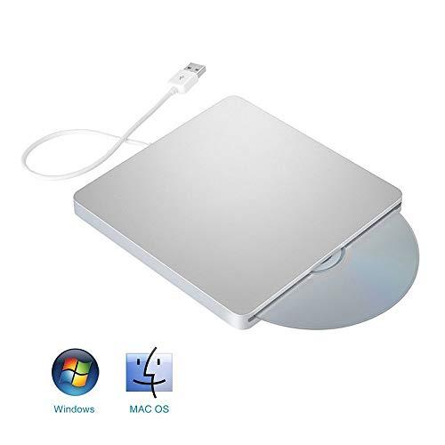 LZBB Externes CD-Laufwerk, externes DVD-Laufwerk CD-Laufwerk USB-Player Portable DVD Burner unterstützte Windows-Desktop-Windows-Linux-Betriebssystem Apple Mac