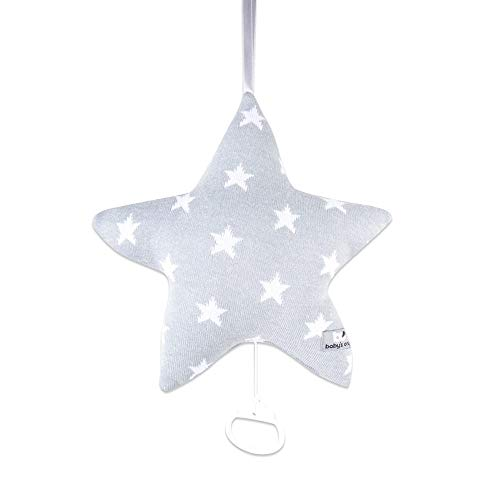 Baby's Only Coussin musical Etoile Star gris / blanc - gris / blanc