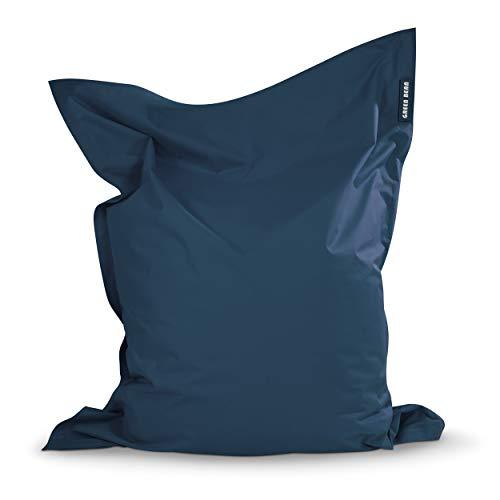 Green Bean © Square XL Puf 120x160 cm - con Relleno de 270L - S-XXL Interior y Exterior - Funda Lavable - Beanbag, Puff, Bolsa de Frijoles para niños y Adultos - cojín de Suelo - Azul Oscuro