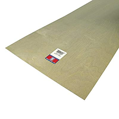Midwest Products 5240 Birch Plywood, 1/64 x 12 x 24-Inch