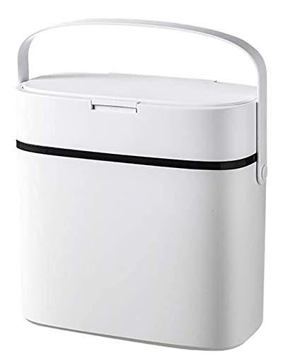 WXX Mit Deckel Wohnzimmer Push-Trash Can Kreative Bewegliche Sorting Trash Can 12L Haushalt Wasserdicht Versiegelt Trash Can Schlafzimmer Küche Desodorierenden Trash Can