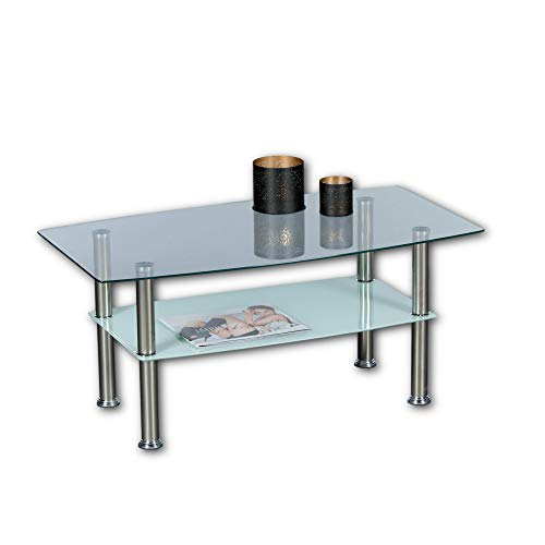 Stella Trading Lisa, tavolino da Salotto, con Piano in Vetro