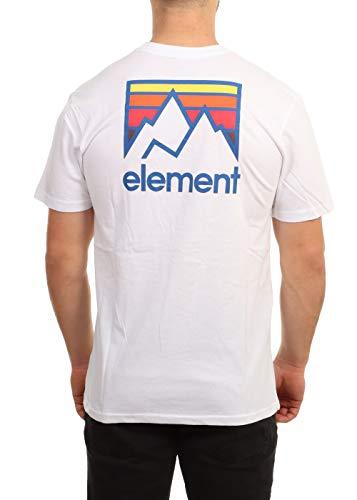 Element Joint - Camiseta para Hombre Camiseta, Hombre, Optic White, XS