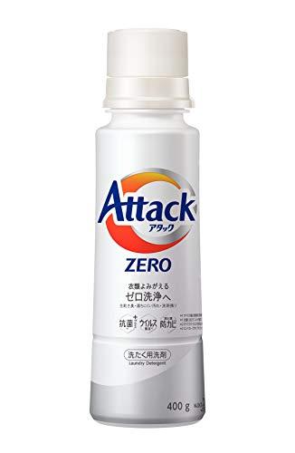 アタック ゼロ(ZERO) 洗濯洗剤(Laundry Detergent) 本体 400g (清潔実感! 洗うたび白さよみがえる)