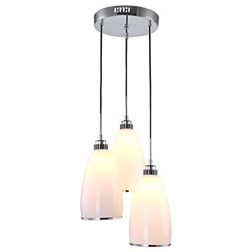 Candelabro Lámpara de Techo de Bar de Comedor de Tres Cabezas de Vidrio Creativo Comedor Comedor Bar Lámpara de Techo Candelabros