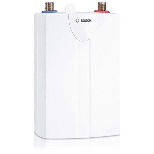 Bosch hydraulischer Kleindurchlauferhitzer Tronic 1000 6 T, untertisch Durchlauferhitzer mit Festanschluss, robust für alle Wasserhärten, Energieklasse A, 6 kW
