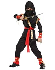 Fancy Steps Ninja Costume with Sword Halloween Fancy Dress for Kids School Annual Function Theme Party Competition Stage Shows Birthday B'day Party