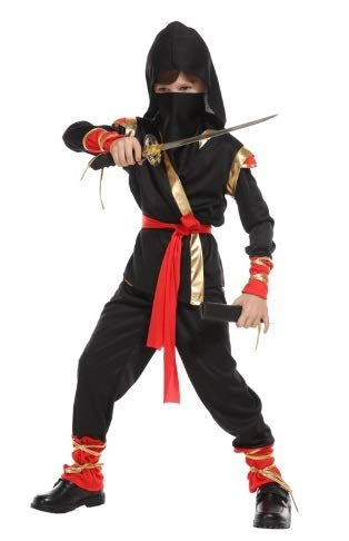 Fancy Steps Ninja Costume with Sword Halloween Fancy Dress for Kids School Annual Function Theme Party Competition Stage Shows Birthday B'day Party (4 to 6 yrs)