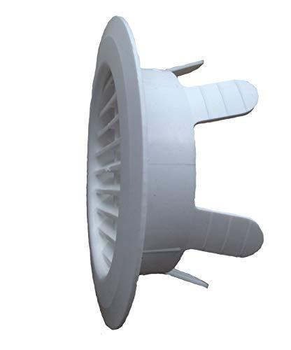 Lüftungsgitter, Abluftgitter, Fertiggarage, Garage, rund, Klemmfinger, 90-125 mm - Original Ersatzteil