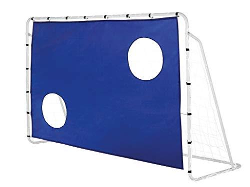 NT7888 Fußballtor mit Torwand Trainer mit Netz Fußball # 1-Stück Garten Outdoor 215x150