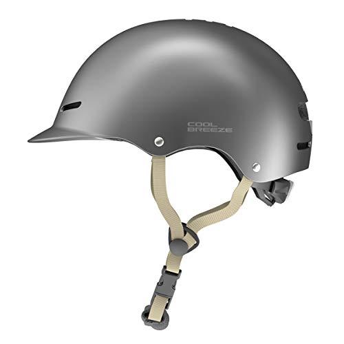 HIMO Skate-Helm, Fahrradhelm für Erwachsene, Verstellbarer Skateboard, Scooter Dunkelgrau