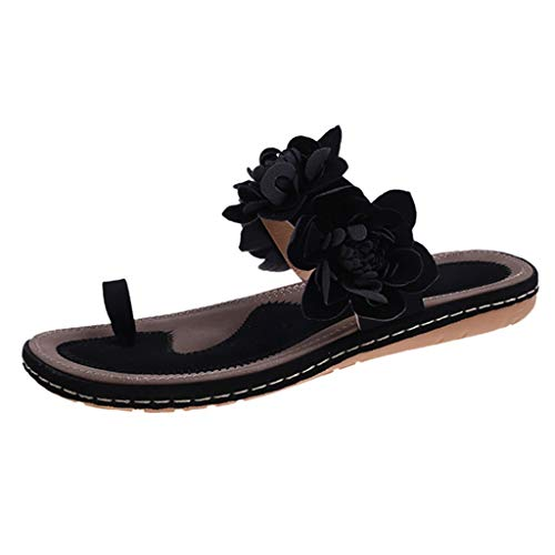 New kaifongfu Flat Slides for Women Clip Toe Flip Flop Breathable Sandals Slip-On Home Slippers with...