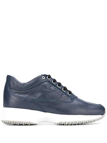 Hogan Luxury Fashion Donna HXW00N00E30MVGU824 Blu Pelle Sneakers | Primavera-Estate 20