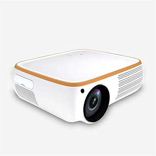 ZXNRTU Impresionante calidad de imagen Proyectores proyector de Bluetooth mini proyector del Ministerio del Interior del proyector 4K HD 1080P proyector, 6000 lúmenes, 30.000 horas Fuente de Luz, 2000