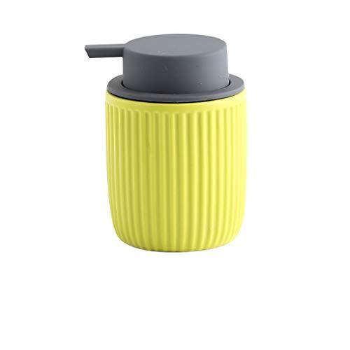 Recargable INS Cerámica Sapon Dispenser Embotelle Tipo de Prensa Ducha Gel Champú Soap Disepenser Botella para El Baño Aseo Decoración Dispensador de Baño (Color : Yellow)