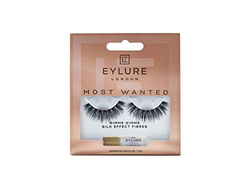 Eylure Luxe Silk Effect False Eyelashes, Marquise, Reusable, Adhesive Included, 1 Pair