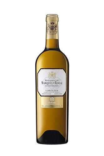 Marqués de Riscal - Vino blanco Limousin Denominación de Origen Rueda, Variedad 100% Verdejo, Crianza de 8 meses sobre lías - Botella individual 750 ml