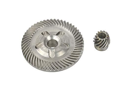 Engranajes de Repuesto para Amoladora Angular - 81,5mm x 22mm/Agujero: 14mm - 22,5mm x 23mm/Agujero: 10mm - Compatible con 230mm Amoladora Angular Bosch
