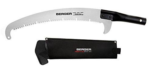 Berger ArboRapid Set 63952 Aufsatzsäge, Länge: 40 cm Sägenaufsatz für Teleskopstangen für Äste inkl. Sägentasche
