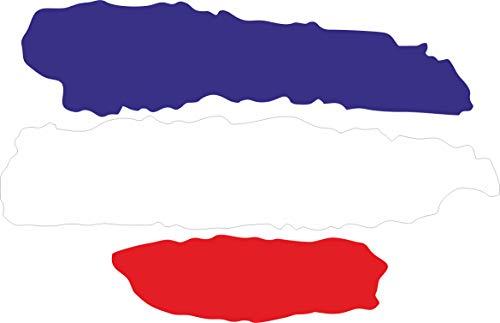INDIGOS UG - Pegatina - 5 Pegatinas para Coche - JDM - Troquelado - Coche - Bandera Francia - Francia - 3 Rayas - 70x50 mm - Ventana Trasera - para Ventana Trasera Barco Coche Tuning camión