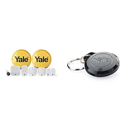 Yale IA-330 Sync Smart Home Alarm, works with Alexa, Google & Philips Hue. 9-piece kit, Self-Monitored, Geofencing, 200m range & AC-KF Sync Smart Home Alarm Accessory Key Fob, Black