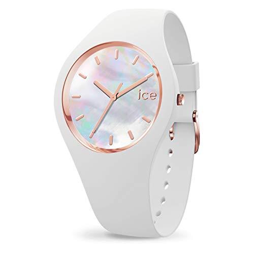 Ice-Watch - Ice Pearl White - Montre Blanche pour Femme avec Bracelet en Silicone - 016935 (Small)