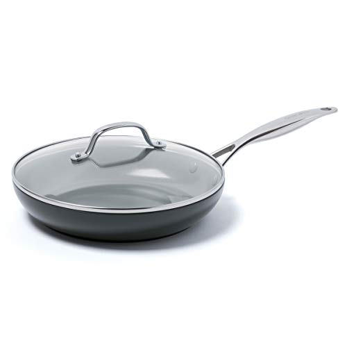 GreenPan Valencia Pro Hard Anodized Induction Safe Healthy Ceramic Nonstick 10quot with Lid Gray