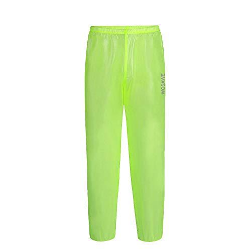 WOSAWE - Chubasquero impermeable para ciclismo con capucha y pantalones de lluvia para camping, senderismo, carreras, Hombre, color Pantalón Verde, tamaño xx-large