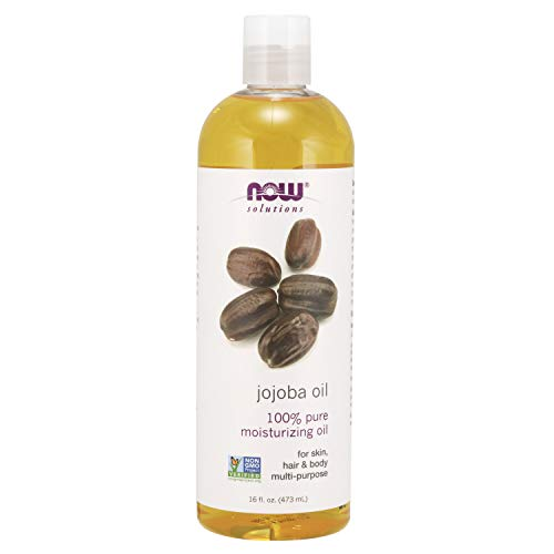NOW Solutions, Jojoba Oil, 100% Pure Moisturizing, Multi-Purpose Oil for Face, Hair and Body, 16-Ounce
