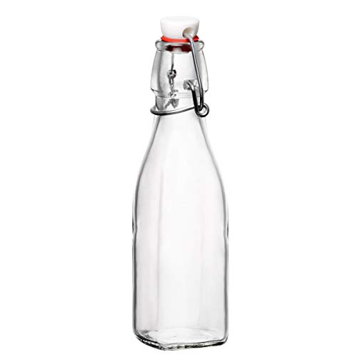 Bormioli Rocco Swing Bottle, 8.5 oz, Clear
