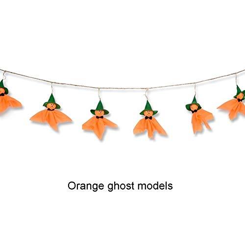 LXJ Halloween decoraties La vlag Bar Props Ghost Festival aankleden kleuterschool opknoping Banner pompoen geest pop