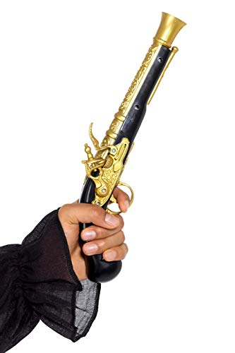 Includes Realistic Pirate Blunderbuss Pistol, Black & Gold, 30cm/12in Only available in one size. Smiffys is a leading fancy dress supplier and family business with a 123 year heritage in costumes, wigs, make up and accessories. Our dedicated in-hous...