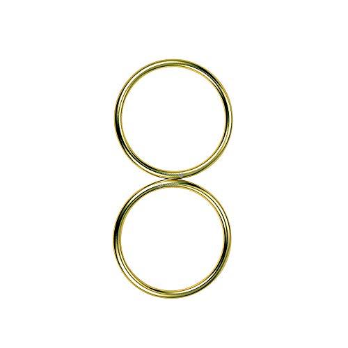 topind 7,6cm Größe Aluminium Baby Sling Ringe für Babyschalen & Tragetücher von 2Pcs brightgold