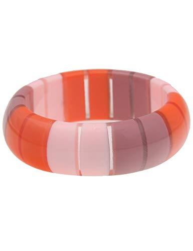 Leslii Damen-Armband XXL-Armreif Retro Statement-Armband breiter Armreif buntes Modeschmuck-Armband in Orange Rosa Lila