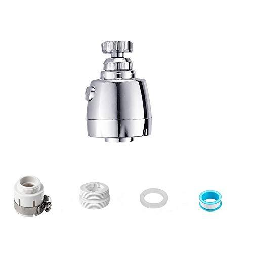 Grifo giratorio de grado para fregadero de cocina, aireador de grifo extraíble, cabezal giratorio de 360 °, cabezal de rociador de repuesto, antisalpicaduras, (estilo más corto, 1 unidad)
