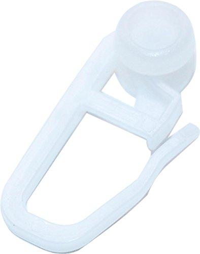 RMB® Lot de 100 anneaux pour rideaux - Pour rail de guidage - Avec crochets plissés