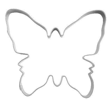 Ausstechform Ausstecher Schmetterling, gross, 10cm, Weissblech