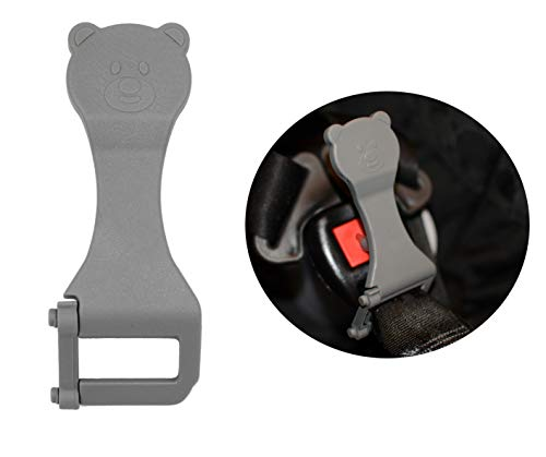 Bear Buddy Unbuckle Assistant Release Tool | Easy Way to Unbuckle Carseats | Perfect for School Drop-Offs and Travel to Release Buckle | Made in USA (Gray)