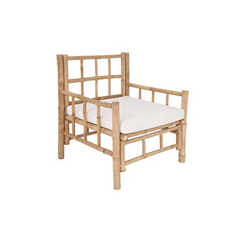 Butlers Lombok - Sessel aus Bambus mit Sitzkissen - Tropisches Flair - Outdoor und Indoor