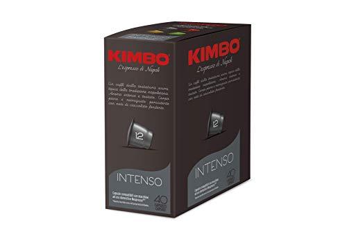 Cápsulas de Café Kimbo - Compatible con Nespresso - Intenso (4 x 40 Cápsulas)