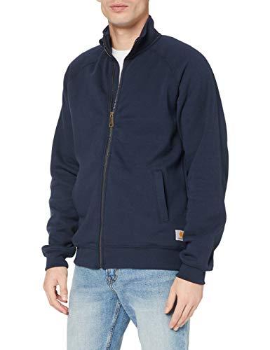 Carhartt .K350.472.S007 - Sudadera con cremallera frontal y cuello alto de peso medio, color azul marino, talla XL