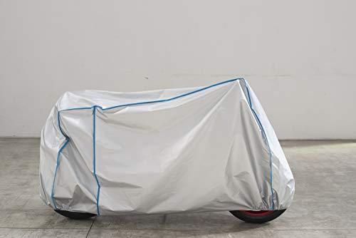 Telo coprimoto, traspirante, resistente ai raggi UV, compatibile con CENTOALLORA Triumph Bonneville T100 Sidecar senza accessori, colore: argento