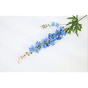 Artificial and Dried Flower 2 Fork 80 cm Delphinium Artificial Flower Orchid Cloth Silk Fake Flowers Branch Wedding Party Home Garden DIY Decoration