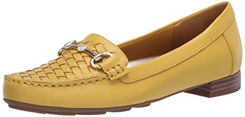 Anne Klein Women's Hazina Loafer, Yellow, 10 M US