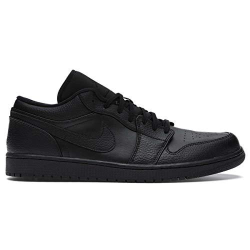 Nike Herren AIR Jordan 1 Low Basketballschuh, Schwarz, 42.5 EU