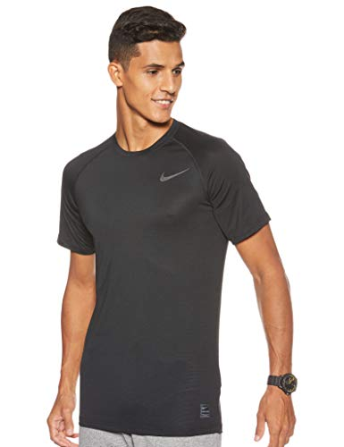 Nike M NP BRT Top SS T-Shirt Homme, Black/Black/Anthracite/Dark Grey, FR : M (Taille Fabricant : M)