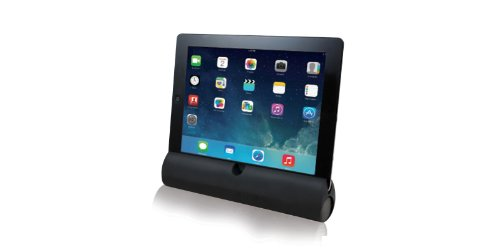 Adesso Xtream S3 Bluetooth 3.0 iPod, iPad, iPhone, Smartphone and Tablet Speaker/Stand with Built-In Microphone and Battery Indicator (Black)