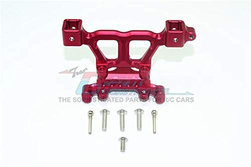GPM Traxxas Revo, Revo 3.3 Upgrade Parts Aluminium Rear Body Posts Mount with Screws - 1Pc Set Red