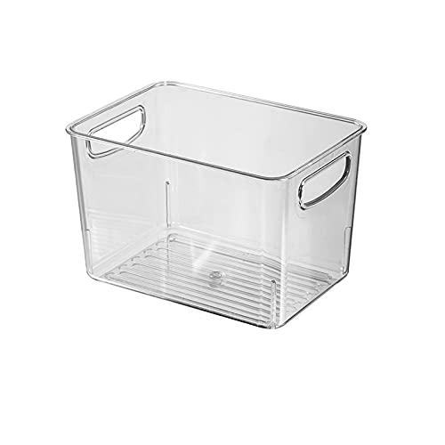 Organizador de frigorífico Caja de Almacenamiento de refrigerador Organizador de plástico Transparente Contenedores Contenedores de almacenes de Alimentos con asa for refrigerador (Color : 2PCS F)